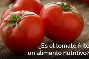 ¿Es el tomate frito un alimento nutritivo?