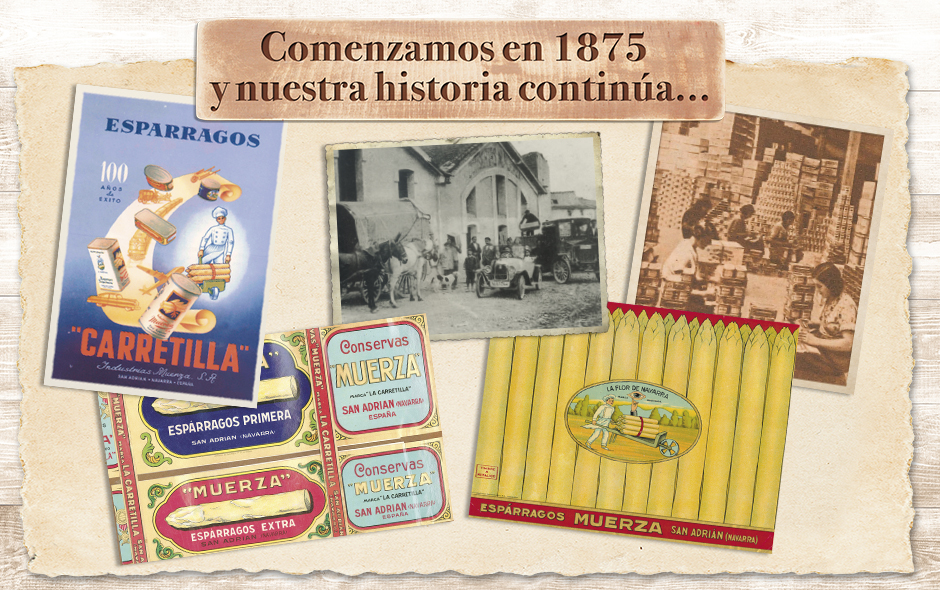 Espárragos Carretilla, desde 1875:  La calidad de siempre, ahora con nueva imagen